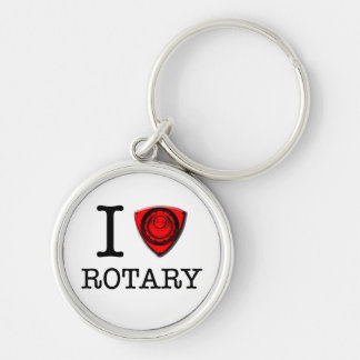 I love Rotary Engine Silver-Colored Round Keychain