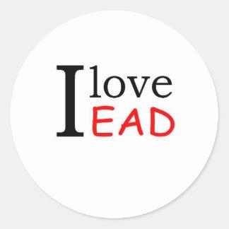 I Love Round Sticker