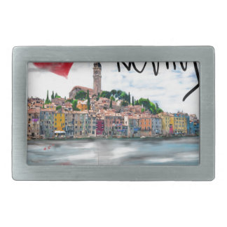 I love Rovinj Rectangular Belt Buckle