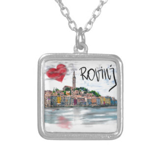 I love Rovinj Silver Plated Necklace