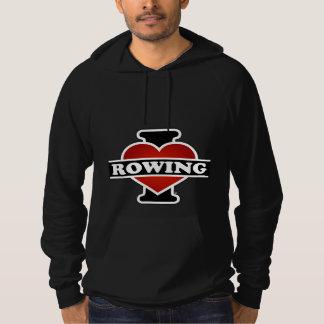 I Love Rowing Hoodie