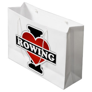I Love Rowing Large Gift Bag