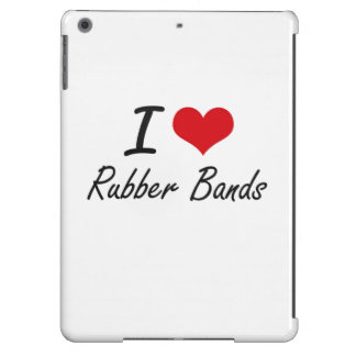 I Love Rubber Bands iPad Air Covers