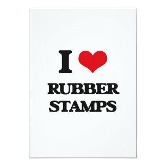 "I Love Rubber Stamps 5"" X 7"" Invitation Card"