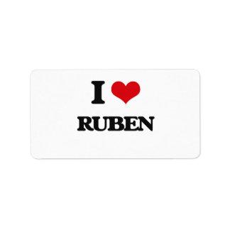 I Love Ruben Address Label