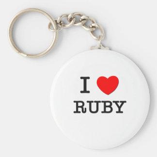 I Love Ruby Keychain