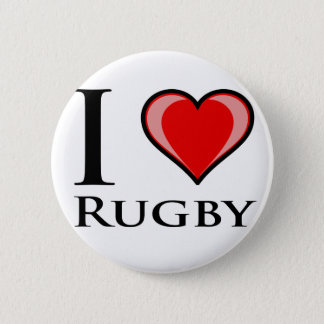 I Love Rugby 2 Inch Round Button
