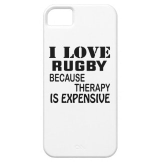 I Love Rugby Because Therapy Is Expensive iPhone 5 Cover