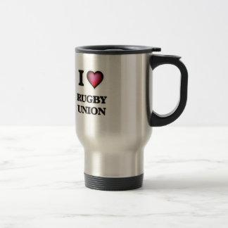 I Love Rugby Union Travel Mug