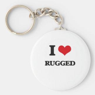 I Love Rugged Keychain