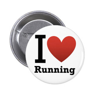 I Love Running 2 Inch Round Button