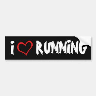 I Love Running Bumper Sticker