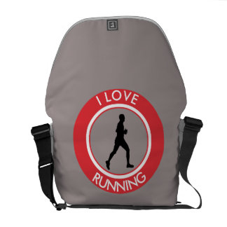 I LOVE RUNNING MESSENGER BAG