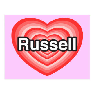 I love Russell. I love you Russell. Heart Postcard