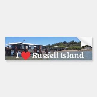 I love Russell Island Bumper Sticker