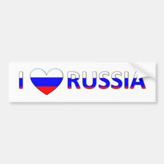 i love russia bumper sticker
