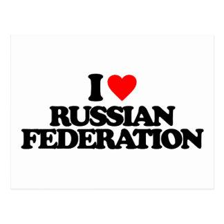 I LOVE RUSSIAN FEDERATION POSTCARD