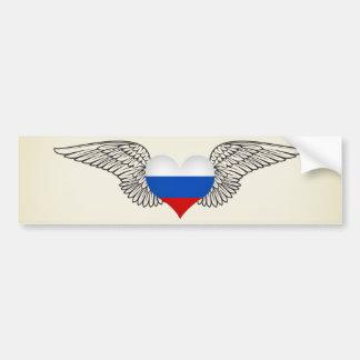 I Love Russian Federation -wings Bumper Sticker