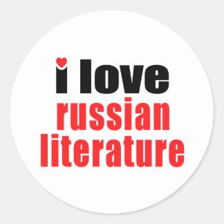 I Love Russian Literature Classic Round Sticker