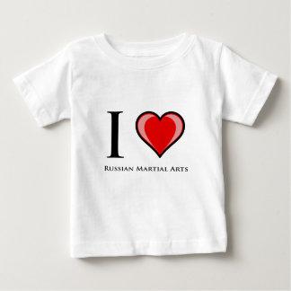 I Love Russian Martial Arts Baby T-Shirt