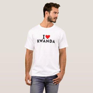 I love Rwanda country like heart travel tourism T-Shirt