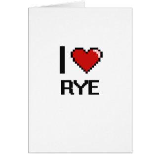 I Love Rye Card