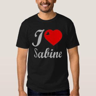 I LOVE SABINE SILVER TALK HEART 3D T SHIRT