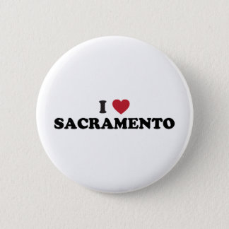 I Love Sacramento California 2 Inch Round Button