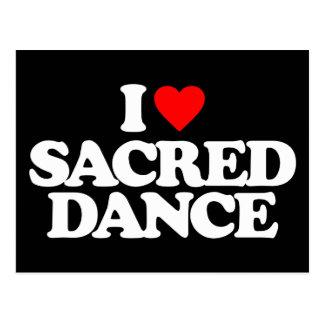 I LOVE SACRED DANCE POSTCARD