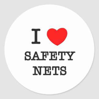 I Love Safety Nets Classic Round Sticker