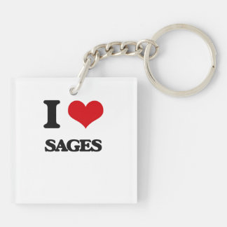 I love Sages Key Chain