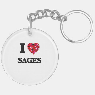 I love Sages Double-Sided Round Acrylic Keychain