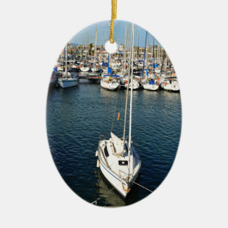 I love sailing ceramic ornament