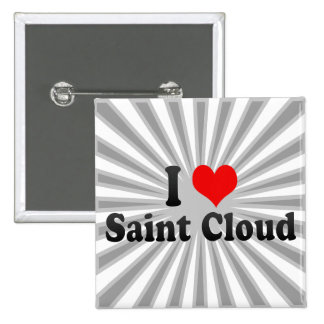 I Love Saint Cloud United States Pinback Buttons