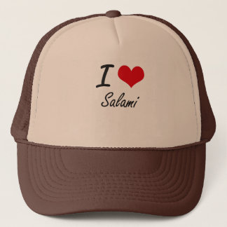 I Love Salami Trucker Hat