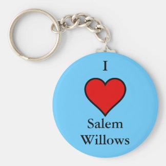 I Love Salem Willows Keychain