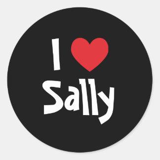 I Love Sally Classic Round Sticker