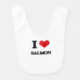 I Love Salmon Bib