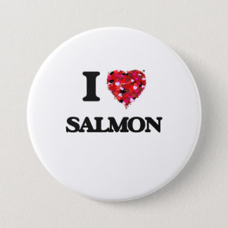 I Love Salmon food design 3 Inch Round Button