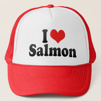 I Love Salmon Trucker Hat