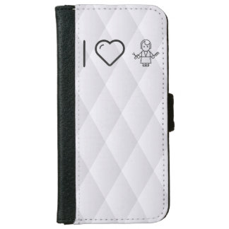 I Love Salon Trimmers iPhone 6 Wallet Case