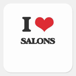 I Love Salons Square Sticker