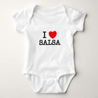 I Love Salsa Baby Bodysuit
