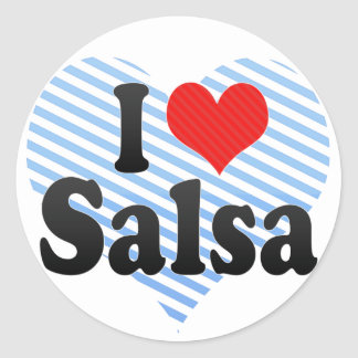 I Love Salsa Classic Round Sticker