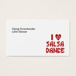 I Love Salsa Dance Latin Dance Instructor Business Business Card