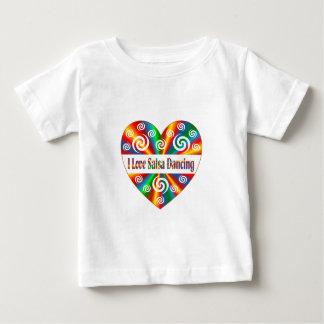 I Love Salsa Dancing Baby T-Shirt