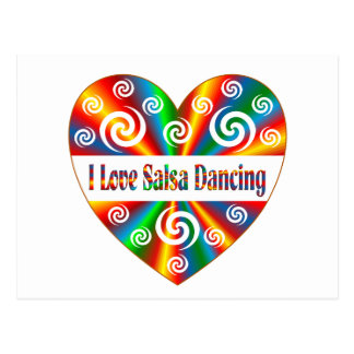 I Love Salsa Dancing Postcard