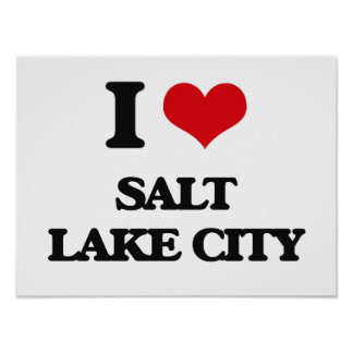 I love Salt Lake City Print