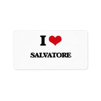 I Love Salvatore Address Label