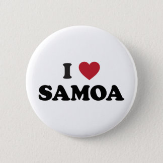 I Love Samoa 2 Inch Round Button